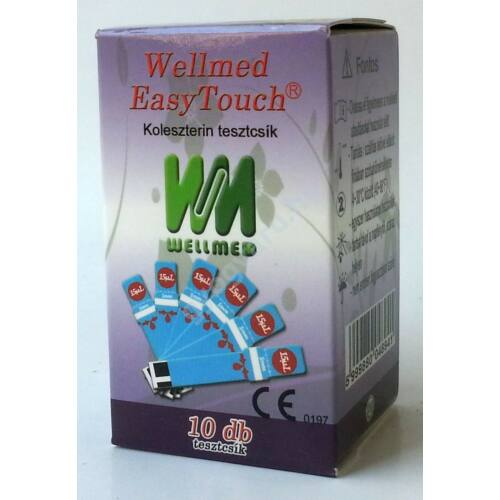 Wellmed EasyTouch koleszterin tesztcsík 10db